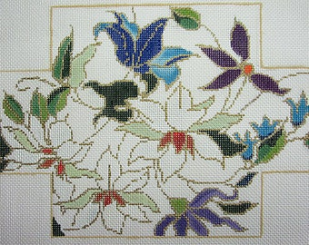 Floral Brickcover Needlepoint Canvas*