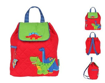 Personalized Boys Stephen Joseph Quilted DINO Backpack