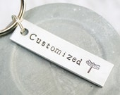 CUSTOM Key Chain CUSTOMIZED For You Hand Stamped Polished Aluminum Personalized Made To Order Keychain Short Quote Names Dates Birthday Gift