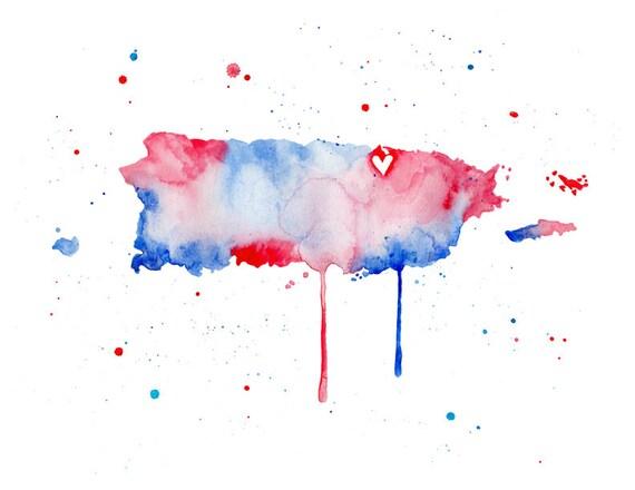 5x7 or 8.5x11 - Puerto Rico Love