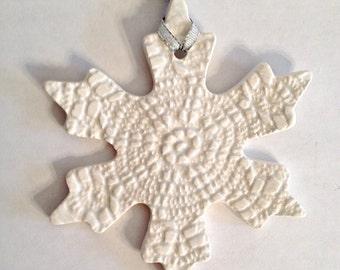 Ceramic Christmas Keepsake Ornament - Sunburst