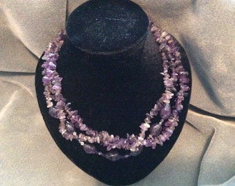 Amethyst Multy Strand Necklace