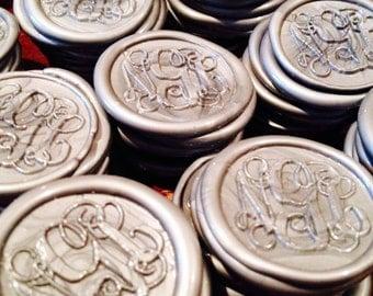 Pre-made Peal and Stick Monogram Wax Seals w/Keepsake Stamper