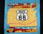 Vintage Scarf Route 66 1982