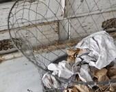 Antique Androck Crinkle Wire Waste Basket