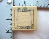 Imaginations Tiny Floral Border Frame DESTASH Rubber Stamp, Rare used rubber stamp