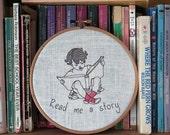 Read me a story Hoop Art