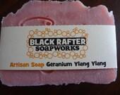 Black Rafter SoapWorks Rose Geranium   Artisan Soap