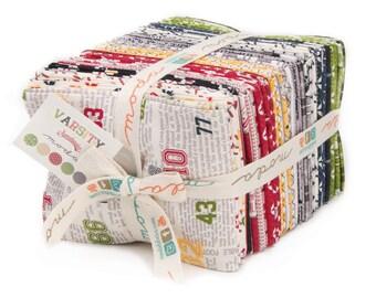 Moda Varsity Fat Quarter Bundle - Free Shipping This Week In The U.S