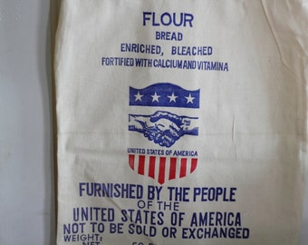 Canvas Flour Sack - Americana Farmhouse - Pillow Cover