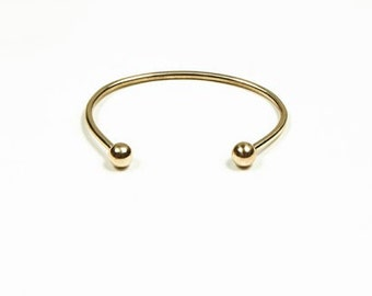 Brass Reverse Ball Cuff