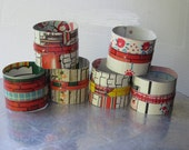 6 Napkin Rings-Vintage Tin-Industrial Chic House-Industrial Decor