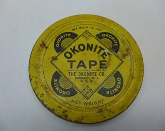 Vintage Okonite TapeTin - Vintage Tin - Tin Container