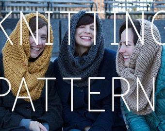Beginner Knitting Pattern Cowl Infinity Scarf - Easy Simple - Digital Download