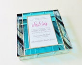 Stained Glass Keepsake Bat Mitzvah Invitation Gift Box Divided Jewely Box 9x9x2 Graduation Birthday Gift Custom Made-to-Order