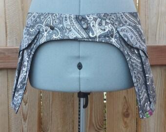 Grey Paisley - Pocket Belt - Utility belt - Hip bag - Festival - Fanny pack - Saddlebag - Unisex design