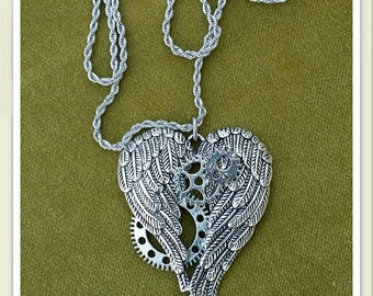 Steampunk in Love Necklace