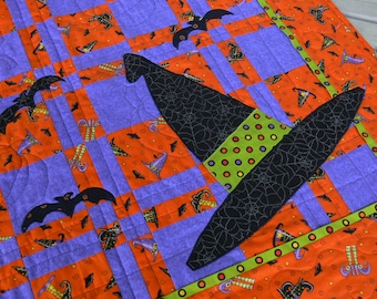 Halloween Table Topper or Wallhanging