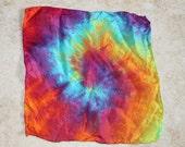 Tie Dye Silk Hankie Pocket Square