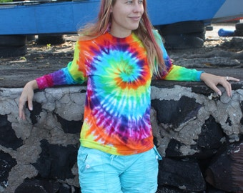 Tie Dye long sleeve unisex shirt sizes S through 3XL