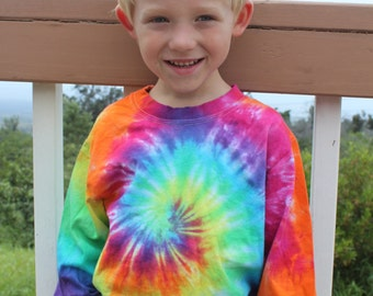 Tie Dye Kids Long Sleeve Shirt