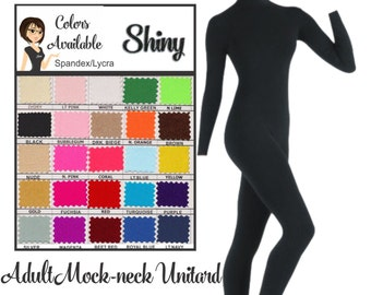 UNITARD /Adult ---Mock Neck Long Sleeve Unitard....Colors Available great for COSTUMES/HALLOWEEN