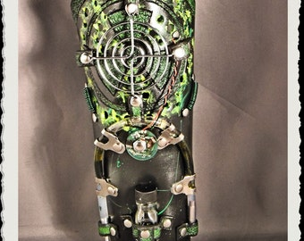 Leather bracer - RadioActive -
