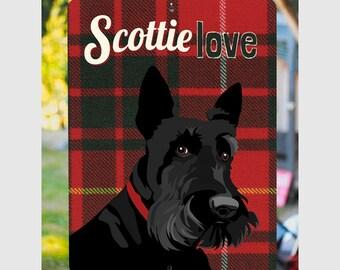 "Scottie Love Sign 9"" X 12"". SKU: SN912629"