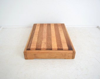Vintage Cutting Board - Wood Bread Board - Butcher Block