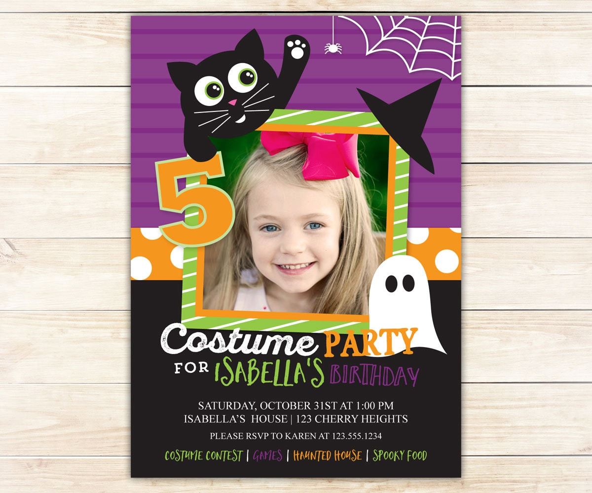 Halloween Birthday Invitation Costume Party By