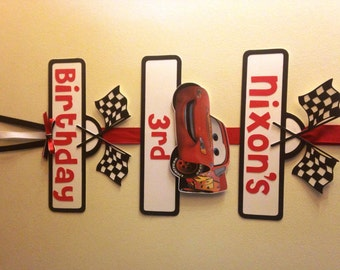 Disney Cars Party Sign