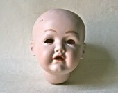 SaLe - Vintage Porcelain Bisque Doll Head from Germany for Doll Making and Repair