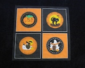 Happy Halloween Folk Art Bandana Scarf
