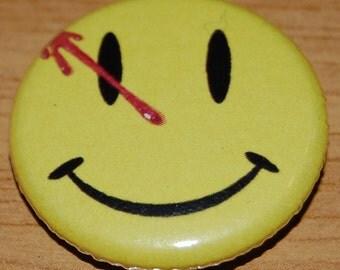 Watchmen Smiley Button Badge 25mm / 1 inch