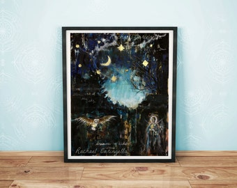 11x14 Giclée Art Print  -  Large Mixed Media  Print - Arranging Stars