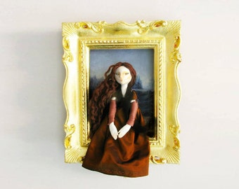 Art Doll Mona Lisa // La Gioconda by Leonardo da Vinci