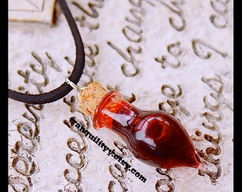 Vampire Blood Necklace,Tear Drop Bottle Choker,  Vampire Realist Blood Vial, Halloween  By: Tranquilityy, Von'Dez Redman