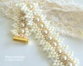 Wedding Pearl Jewelry - Wedding Pearl Bracelet - Beaded Pearl Bracelet - Bridesmaid Bracelet - Bridesmaid Pearl Bracelet - Jewelry Sale