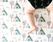 Fitted Crib sheet..Little Teepee