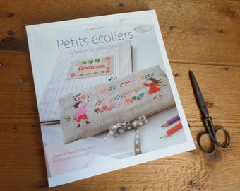 FRENCH book   French Cross-stitch book  Petits ecoliers  School