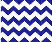 Royal Blue Chevron Fabric 1/2in, Royal/White Apparel/Quilt Fabric, Baby/Nursery Yardage, Home Decor/Diy Craft Supplies, Baby Fabric, Chevron