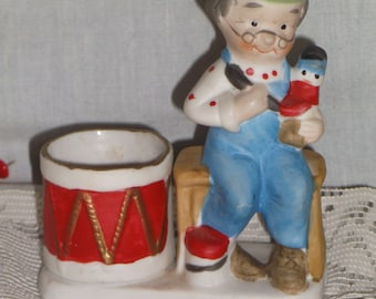 Christmas Luvkin, Jasco, 1978, Toy Maker, Porcelain, Votive