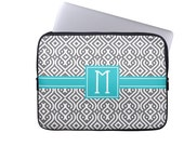 Personalized Laptop Sleeve, Trellis iPad Tablet Case, Monogram Laptop case, ipad mini sleeve,Choose Colors