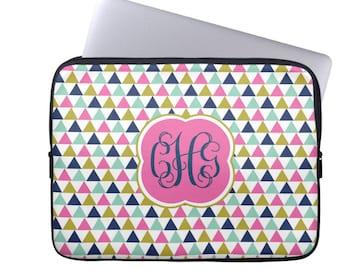 Personalized Laptop Sleeve- MacBook Air Pro- Custom iPad Case, Monogram Laptop Case