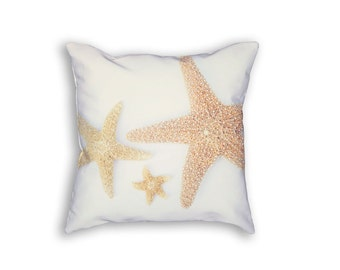 Starfish Pillow Cover, Starfish Pillowcover, Nautical Pillow Cover, Beach Pillow Cover, Beach Bedding, Starfish Bedroom, Pillow, Beach House
