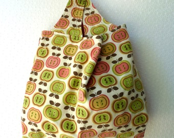 Grocery bag in corduroy - Large - Reversible