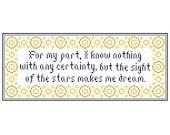 "Van Gogh Inspired ""The SIGHT of the STARS"" Cross Stitch Chart"
