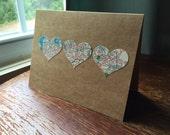 I love Long Island NY - 1 blank handmade greeting card