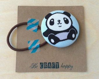 Button ponytail holder - Panda