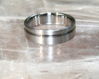 Cobalt Chrome offset solstice Band Ring